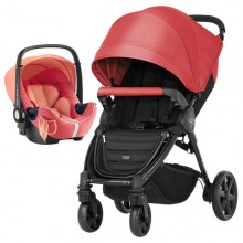 Britax Römer - Duo B-Agile 4 Plus i-Size Bundle - Coral Peach '2019
