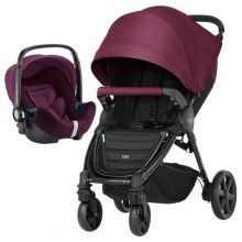Britax Römer - Duo B-Agile 4 Plus i-Size Bundle - Wine Red '2019
