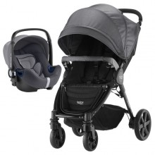 Britax Römer - Duo B-Agile 4 Plus i-Size Bundle - Black Denim '2019