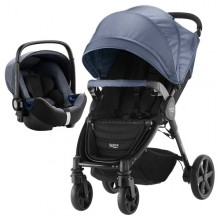 Britax Römer - Duo B-Agile 4 Plus i-Size Bundle - Blue Denim/Marble '2019