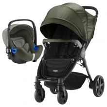 Britax Römer - Duo B-Agile 4 Plus i-Size Bundle - Olive Denim '2019