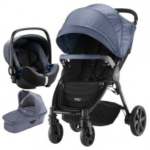 Britax Römer - Trio B-Agile 4 Plus i-Size Bundle - Blue Denim/Marble '2019