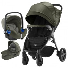 Britax Römer - Trio B-Agile 4 Plus i-Size Bundle - Olive Denim '2019