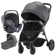 Britax Römer - Trio B-Agile 4 Plus i-Size Bundle - Black Denim '2019
