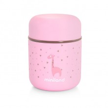Miniland -Silky Food Thermo 280ml - Rosa