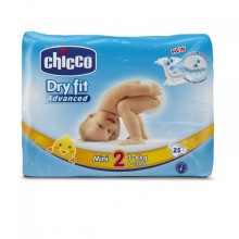 Chicco - Fraldas Dry Fit Advanced T.2 Mini 25Uni