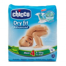 Chicco - Fraldas Dry Fit Advanced T.4 Maxi 19Uni