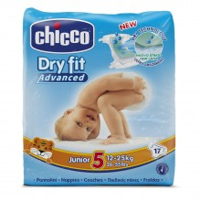 Chicco - Fraldas Dry Fit Advanced T.5 Júnior 17Uni