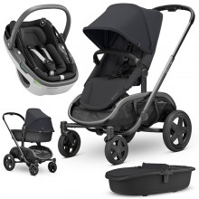 Quinny - Trio Hubb c/Coral - Black On Black '2020
