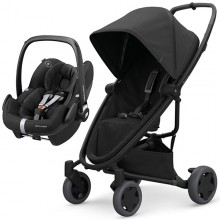Quinny - Duo Zapp Flex Plus c/Pebble Pro - Black On Black '2020