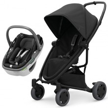 Quinny - Duo Zapp Flex Plus c/Coral - Black On Black '2020