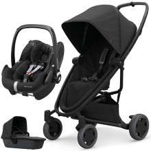 Quinny - Trio Zapp Flex Plus c/Pebble Pro - Black On Black '2020