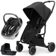 Quinny - Trio Zapp Flex Plus c/Coral - Black On Black '2020