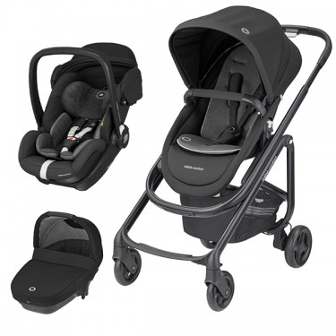 Bébé Confort - Trio Lila SP c/Marble e Amber Plus - Essential Black '2020
