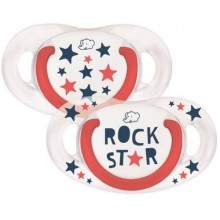 Bébé Confort - Conjunto de 2 Chupetas Natural Physio Rock Star 6-18M