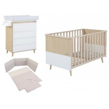 Micuna - Pack poupança Nature - Waterwood-Blanco textil Nature Beige