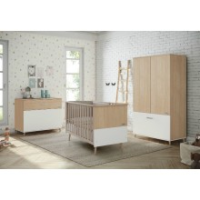 Micuna - Cama Nature 140X70cm - Waterwood-Blanco