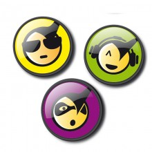 Nikidom - Pins para Roller e Roller XL - Emoticons Cool