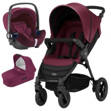 Britax Römer - Trio B-Motion 4 i-Size Bundle - Wine Red '2017