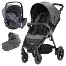 Britax Römer - Trio B-Motion 4 i-Size Bundle - Black Denim '2017