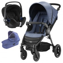Britax Römer - Trio B-Motion 4 i-Size Bundle - Blue Denim '2017