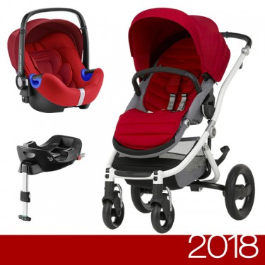 Britax Römer - Duo Affinity 2 i-Size Bundle - White Flame Red '2018