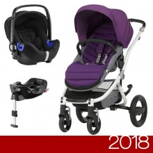 Britax Römer - Duo Affinity 2 i-Size Bundle - White Mineral Lilac '2018