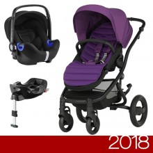 Britax Römer - Duo Affinity 2 i-Size Bundle - Black Minerall Lilac '2018
