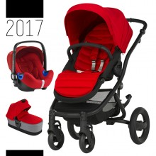 Britax Römer - Trio Affinity 2 i-Size Bundle - Black Flame Red '2017