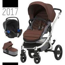 Britax Römer - Trio Affinity 2 i-Size Bundle - White Wood Brown '2017