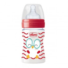 Chicco - Biberão Well-Being POP FRIENDS Pinto 150ml +0M