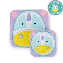 Skip Hop - Prato + Taça ZOO TABLEWARE - Unicorn