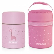 Miniland -Silky Food Thermo 600ml - Rosa