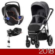 Britax Römer - Duo Smile 2 i-Size Bundle - Black Denim '2018