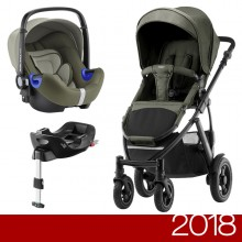Britax Römer - Duo Smile 2 i-Size Bundle - Olive Denim '2018