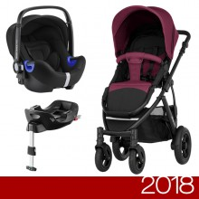 Britax Römer - Duo Smile 2 i-Size Bundle - Wine Red '2018