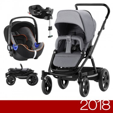 Britax Römer - Duo GO BIG 2 i-Size - Black Grey Melange '2018