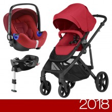 Britax Römer - Duo B-Ready i-Size Bundle - Flame Red '2018